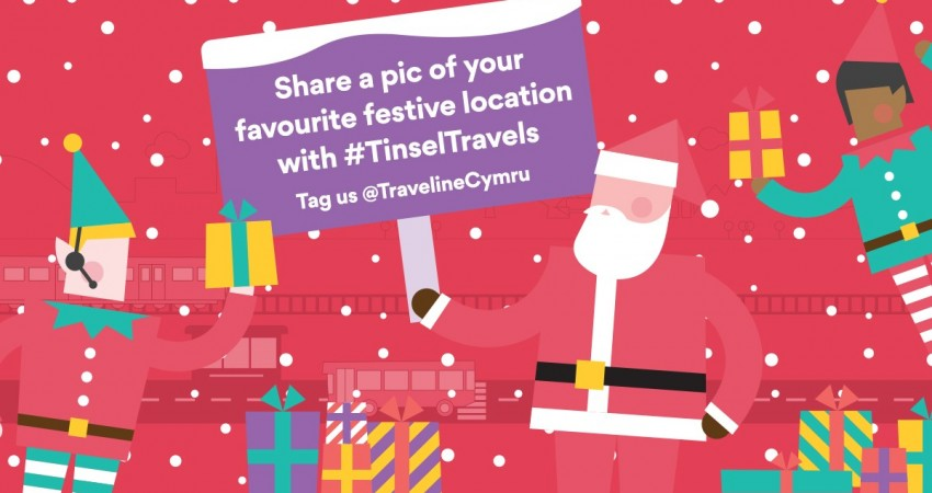 Traveline Cymru Tinsel Travel competition