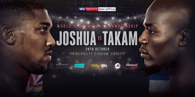 World Heavyweight Championship. Joshua v Takam. Principality Stadium, Cardiff. Saturday 28th October 2017