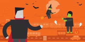 5 top tips for staying safe on your public transport travels this Halloween