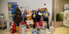 Stagecoach staff in the Rhondda Valleys spread the Christmas cheer by donating gifts to LATCH children's hospital